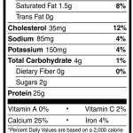 Nutrition Facts Strawberry Whey Protein