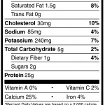 Nutrition Facts Chocolate Whey Protein